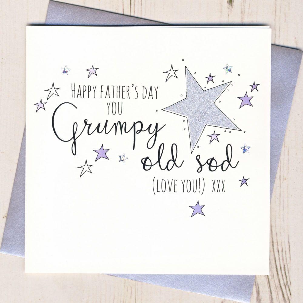 <!-- 001 -->Glittery Grumpy Sod Father's Day Card