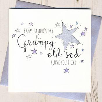 Glittery Grumpy Old Sod Father's Day Card