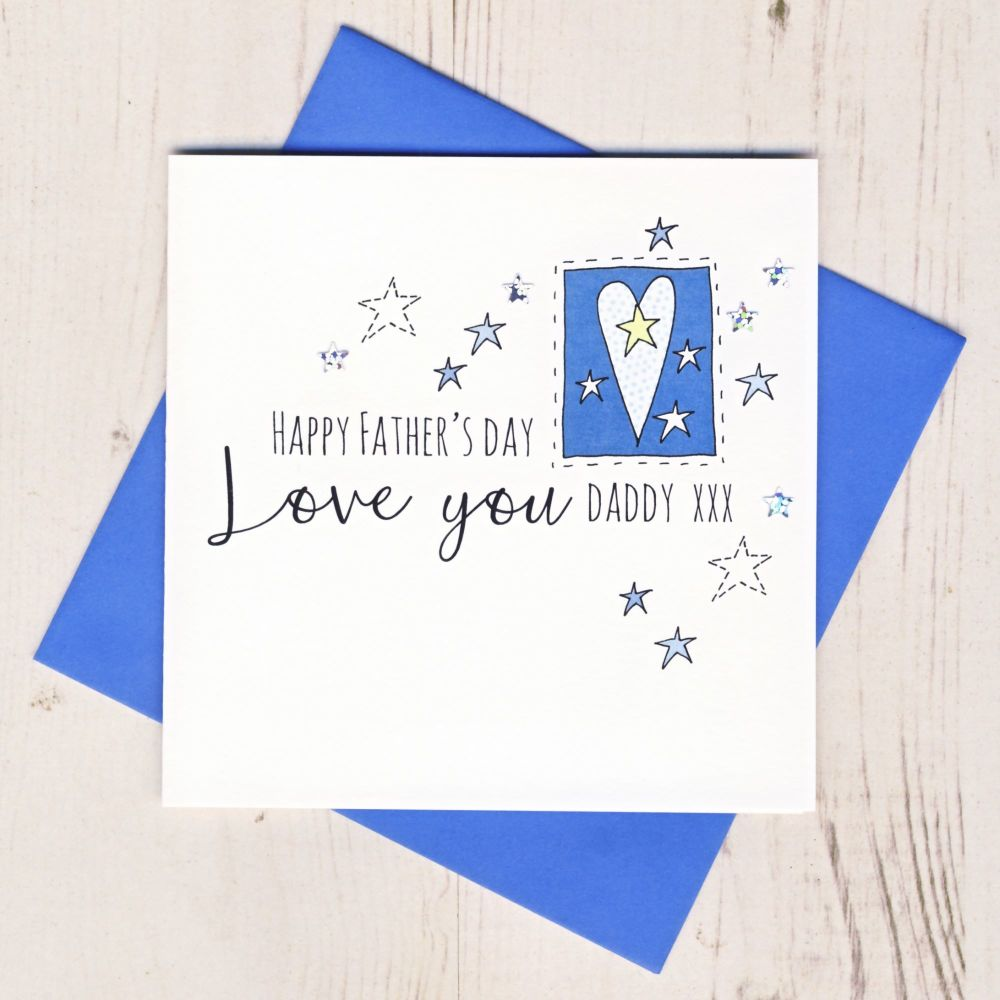 <!-- 002 -->Love You Daddy Father's Day Card