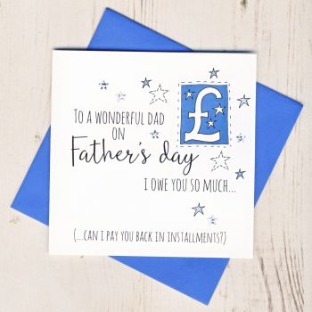 I Owe You Father's Day Card