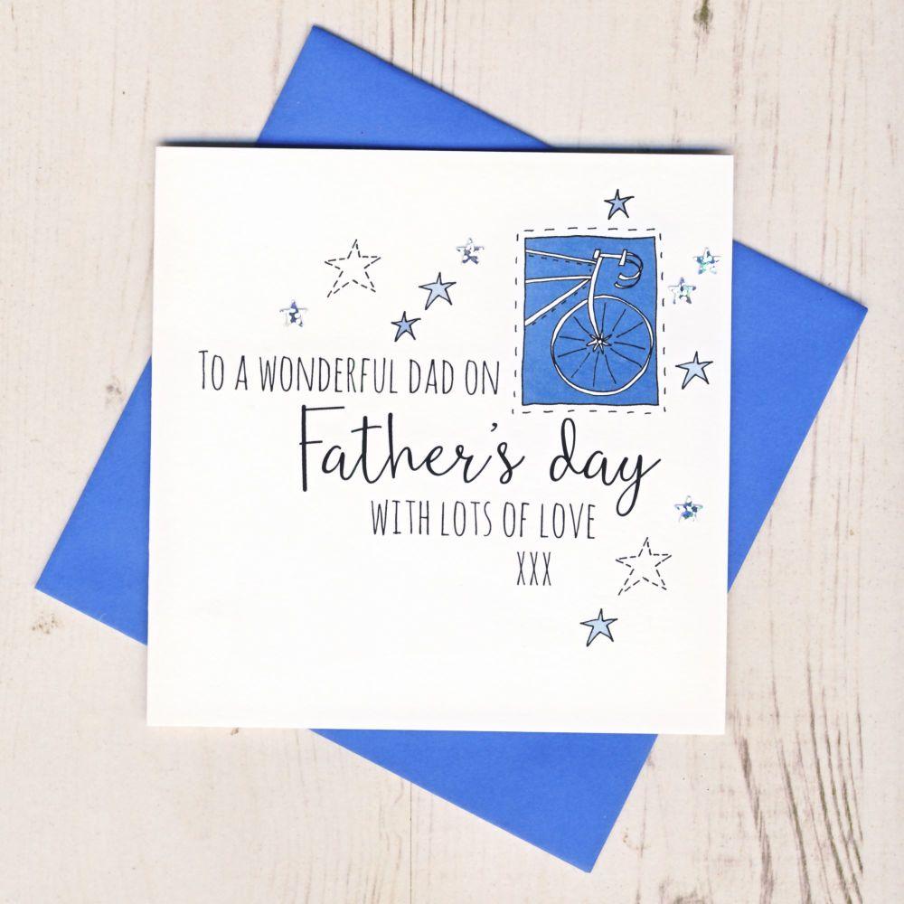 <!-- 002 -->Bike Father's Day Card