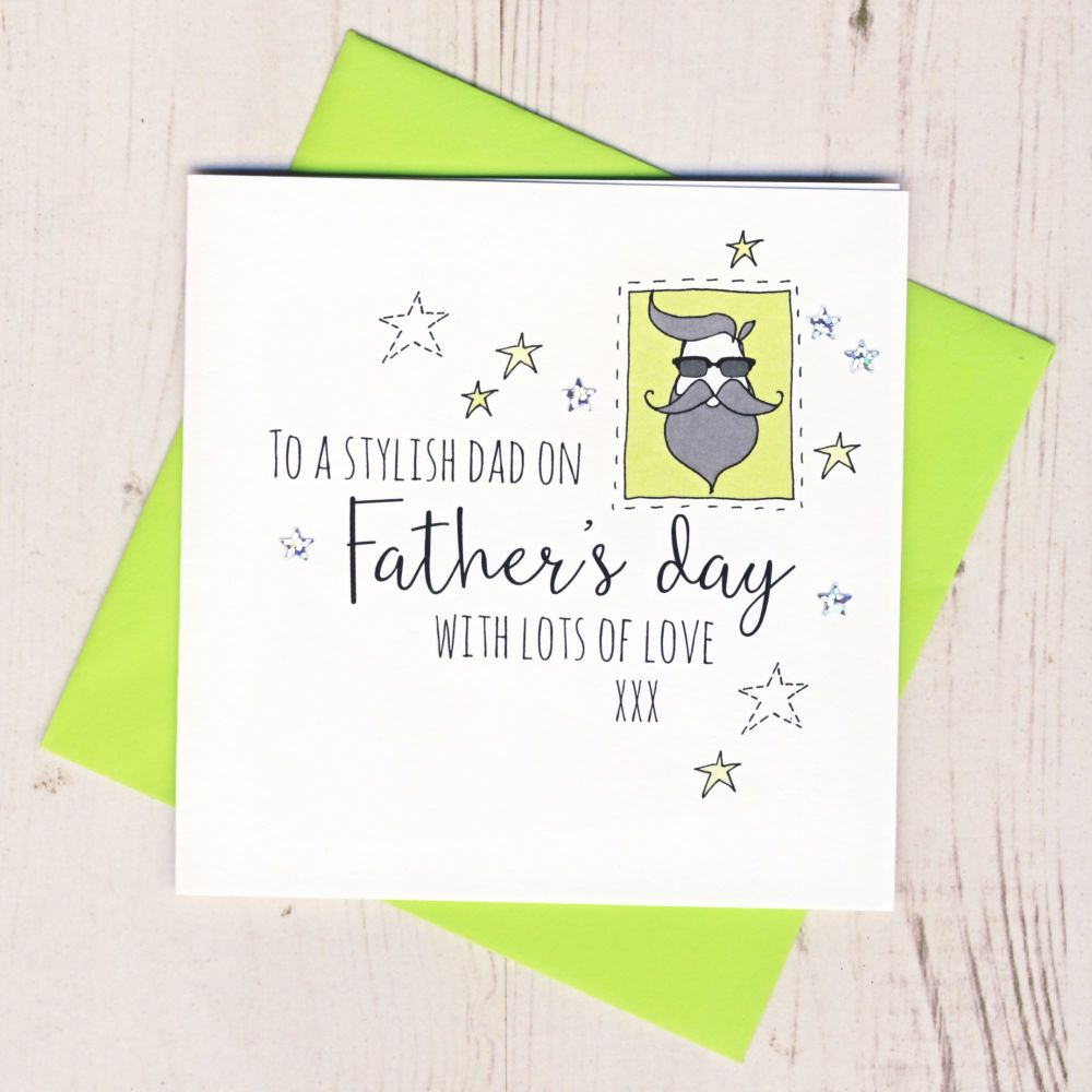 <!-- 002 -->Stylish Dad Father's Day Card