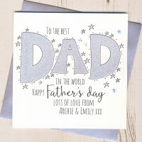 <!-- 001 -->Personalised Glittery Dad Father's Day Card