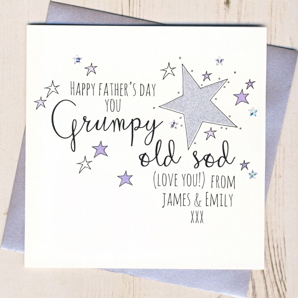 <!-- 002 -->Glittery Grumpy Old ... Father's Day Card