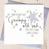 <!-- 002 -->Personalised Glittery Grumpy Old ... Father's Day Card