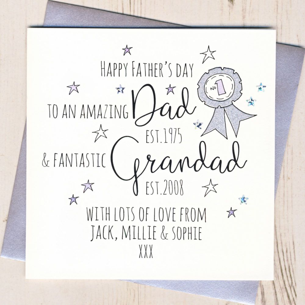<!-- 003 -->Personalised Dad And Grandad Father's Day Card