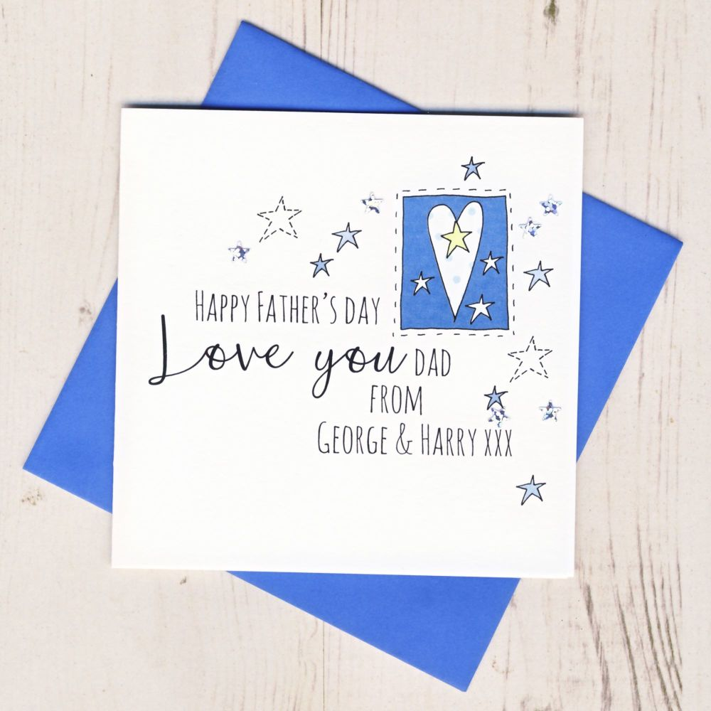 <!-- 005 -->Personalised Love You Dad Father's Day Card