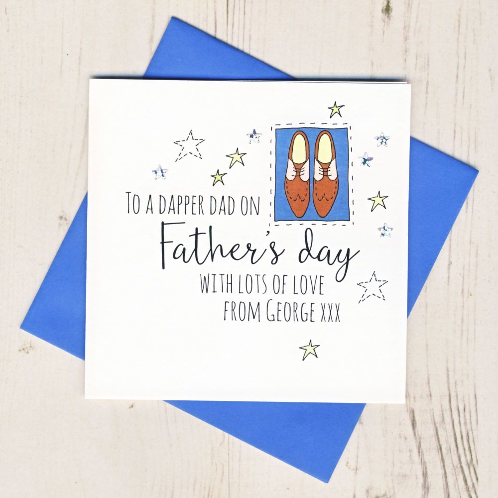 <!-- 007 -->Personalised Dapper Dad Father's Day Card