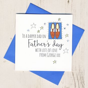 Personalised Dapper Dad Father's Day Card
