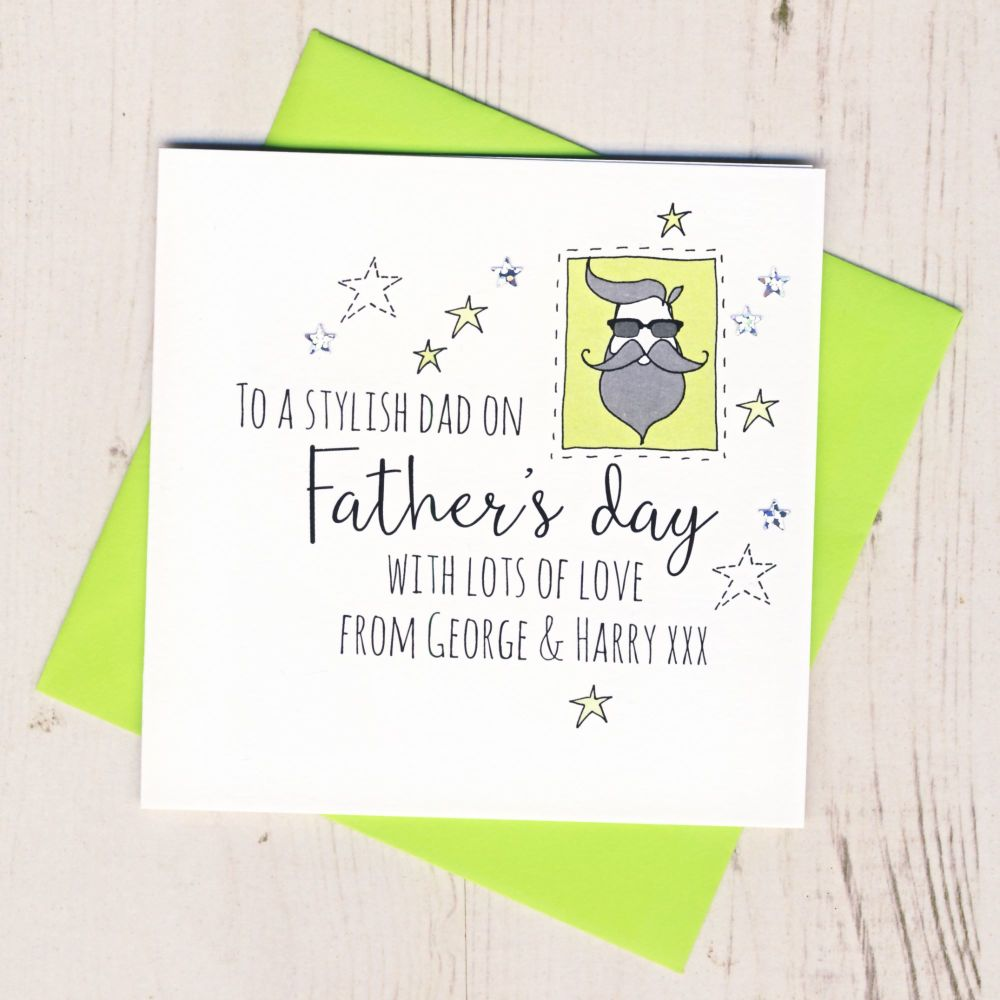 <!-- 009 -->Personalised Stylish Dad Father's Day Card