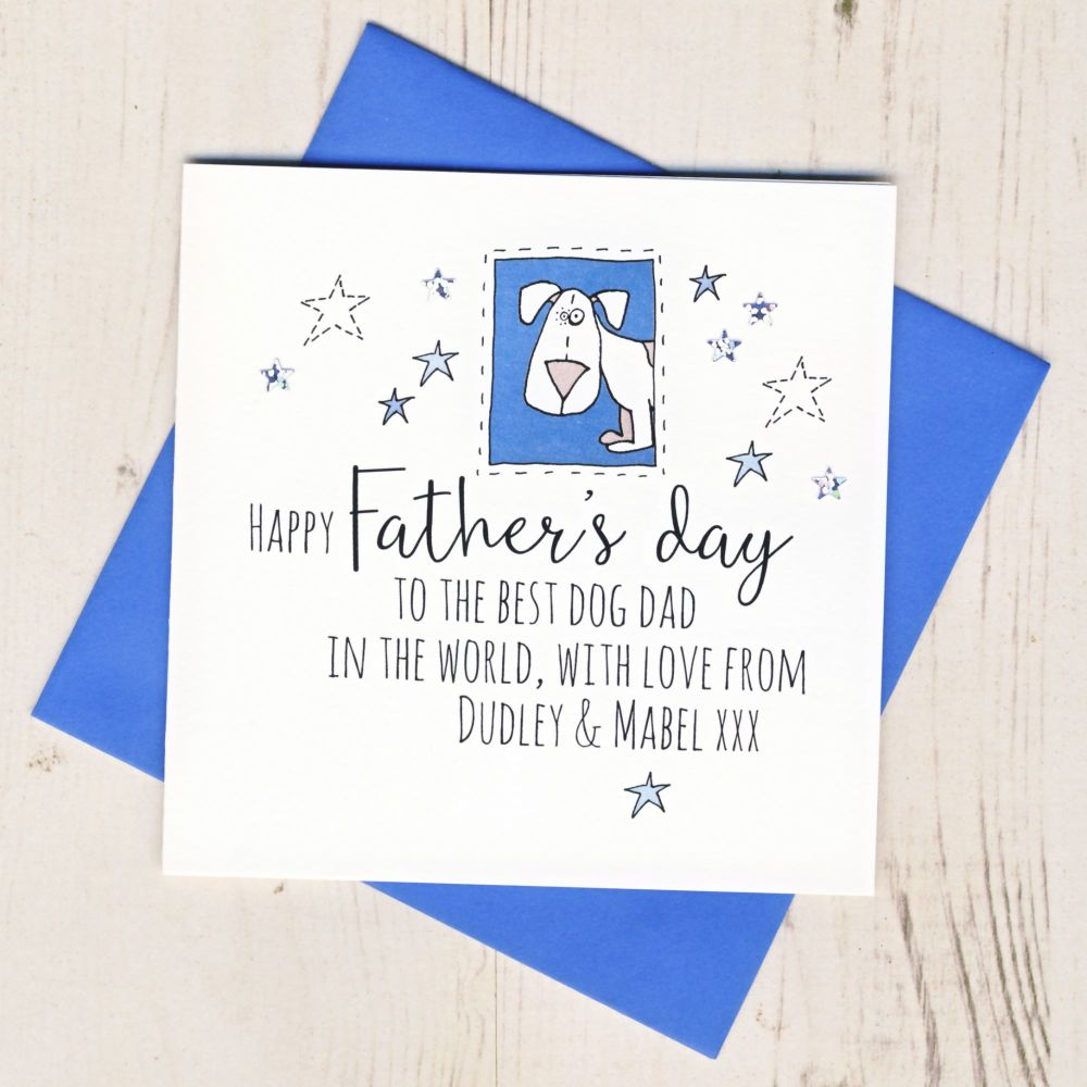 <!-- 008 -->Personalised Father's Day Card From The Dog