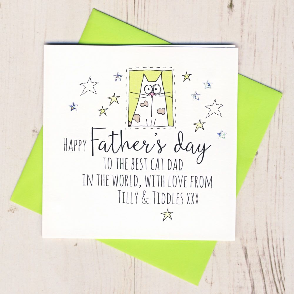 <!-- 009 -->Personalised Father's Day Card From The Cat