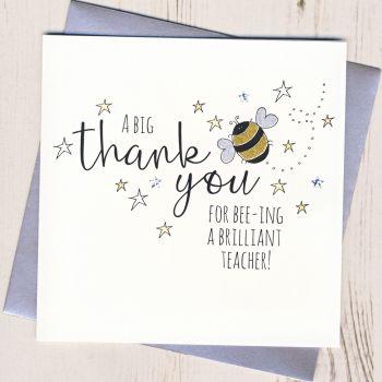 Bee Teacher Thank You Card