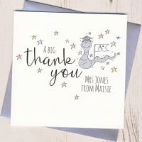 <!-- 001 -->Personalised Worm Teacher Thank You Card