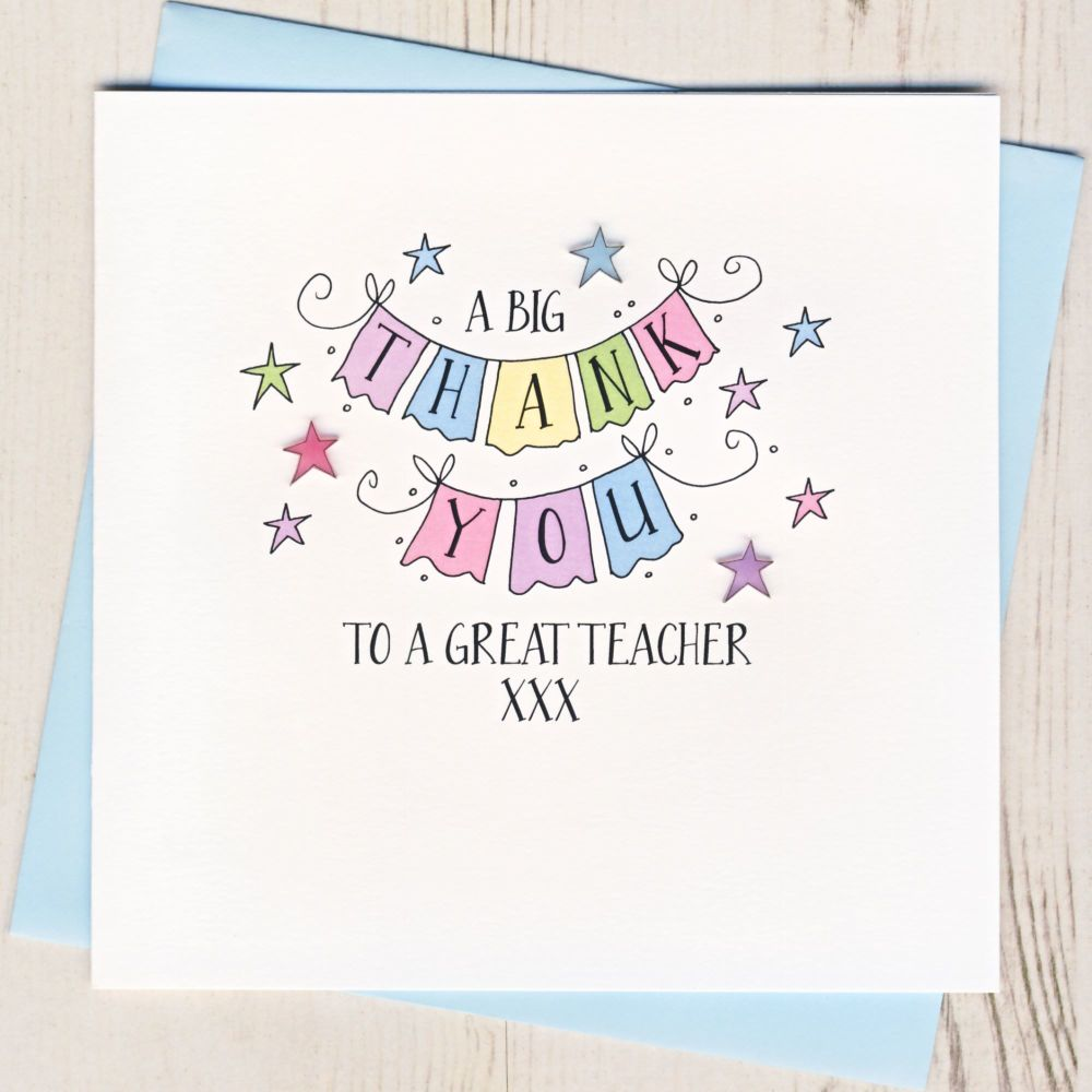 <!-- 004 -->A Big Thank You Teacher Card