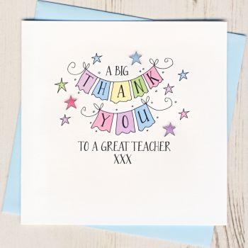 A Big Thank You Teacher Card