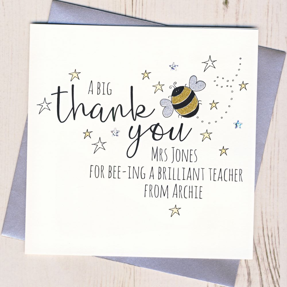 <!-- 002 -->Personalised Teacher Thank You Cards