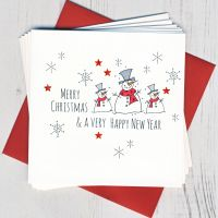<!-- 011 -->Pack of Five Snowmen Christmas Cards