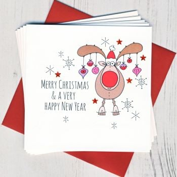 Pack of Five Rudolph Cards