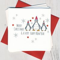 <!-- 015 -->Pack of Five Penguin Christmas Cards