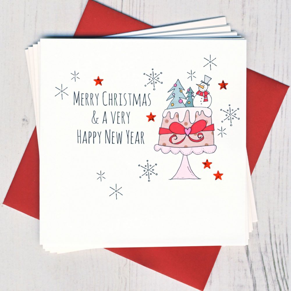 Pack of Five Holly Cards