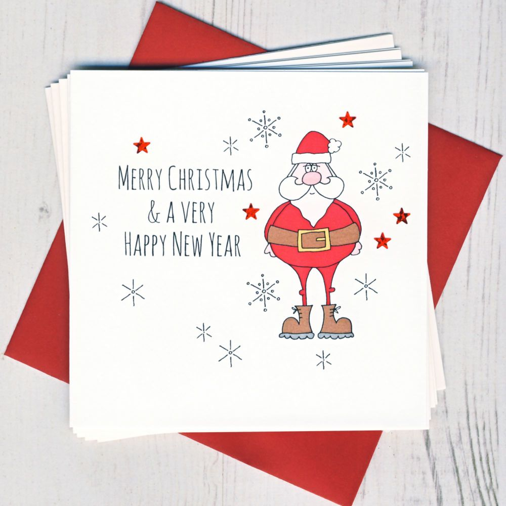 Pack of Five Christmas Cake Cards