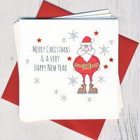 <!-- 014 -->Pack of Five Santa Cards