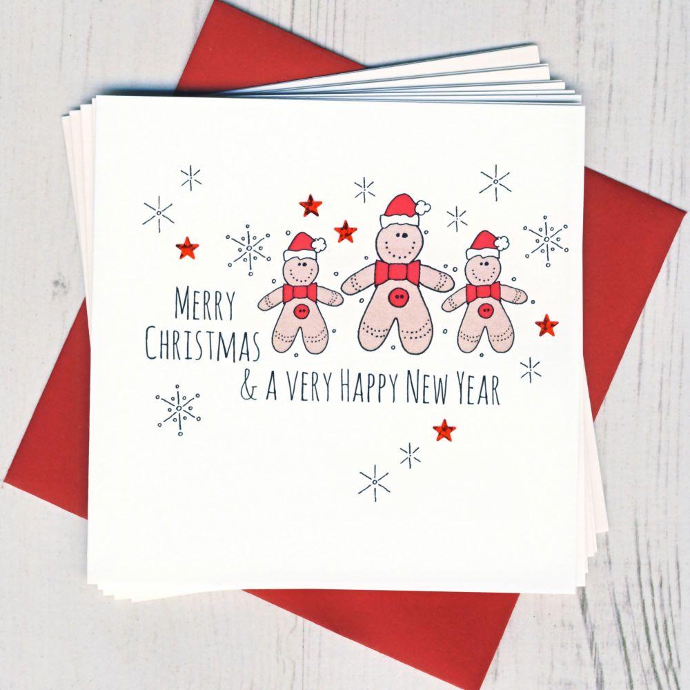 Pack of Five Santa Cards