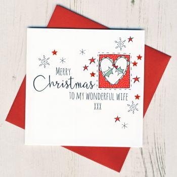 To My Wonderful Wife Christmas Card