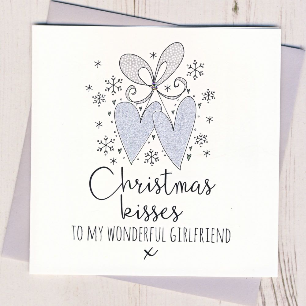 <!-- 002 -->Glittery Girlfriend Christmas Card