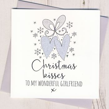 Glittery Girlfriend Christmas Card