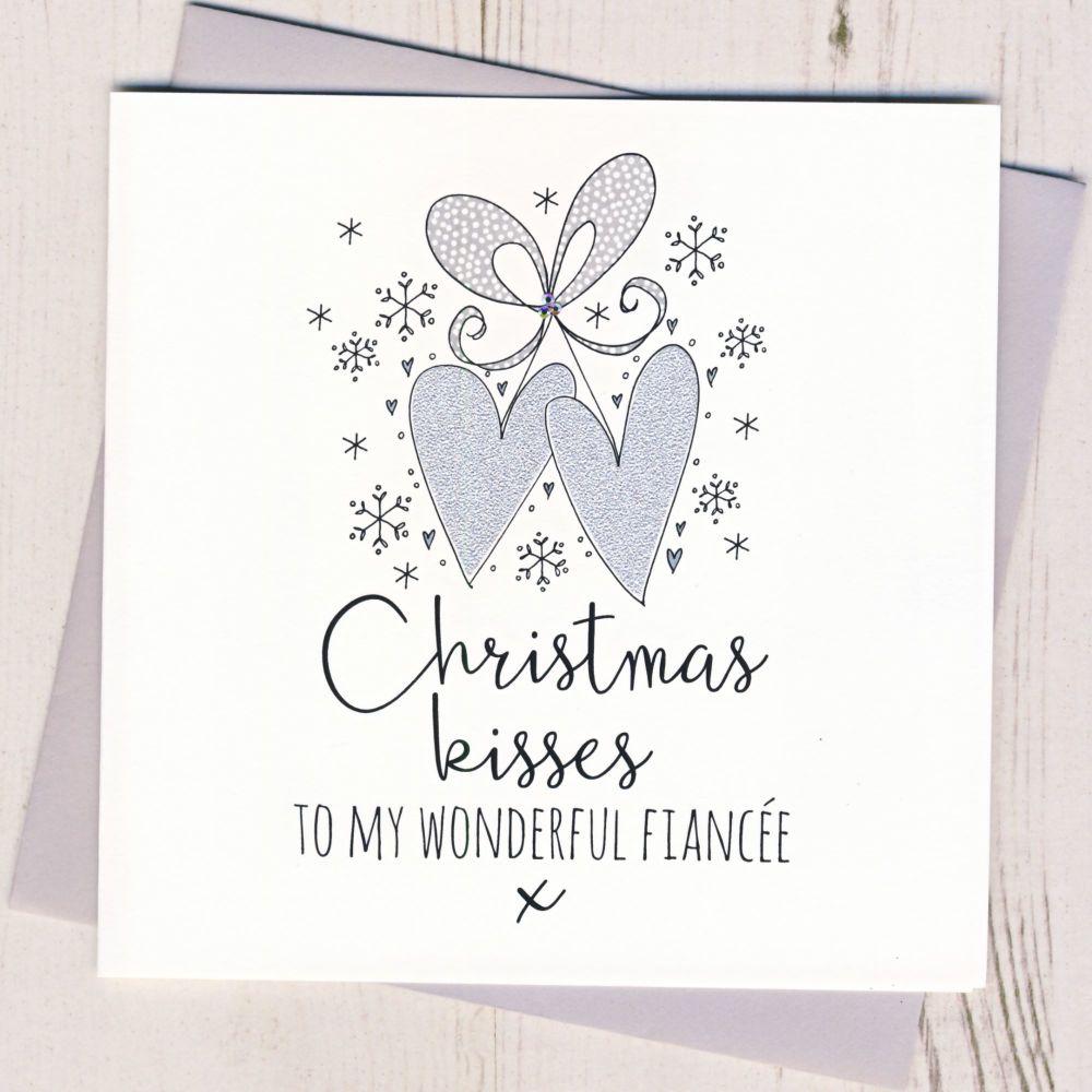 Glittery Fiancee Christmas Card