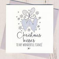 <!-- 004 -->Glittery Fiance Christmas Card