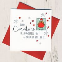 <!-- 008-->Son & Daughter in Law or Partner Christmas Card