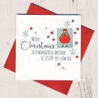 <!-- 008-->Brother & Sister in Law or Partner Christmas Card