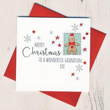 To A Wonderful Grandson Christmas Card