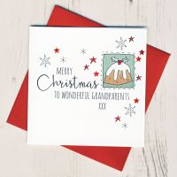 <!-- 001-->To Wonderful Grandparents Christmas Card