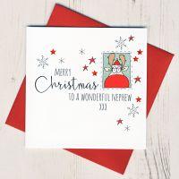<!-- 001-->To A Wonderful Nephew Christmas Card