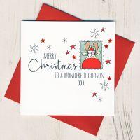 <!-- 001-->To A Wonderful Godson Christmas Card