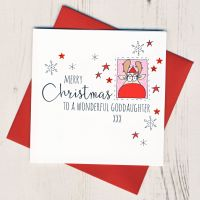 <!-- 001-->To A Wonderful Goddaughter Christmas Card