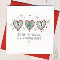 <!-- 001-->To A Wonderful Husband Christmas Card