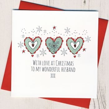 To A Wonderful Husband Christmas Card