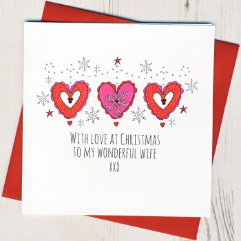 To A Wonderful Wife Christmas Card