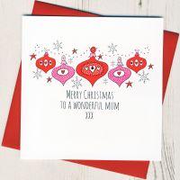 <!-- 001-->To A Wonderful Mum Christmas Card