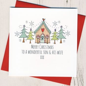 To A Wonderful Son & Wife, Husband or Partner Christmas Card