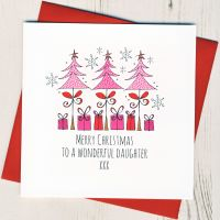 <!-- 001-->To A Wonderful Daughter Christmas Card