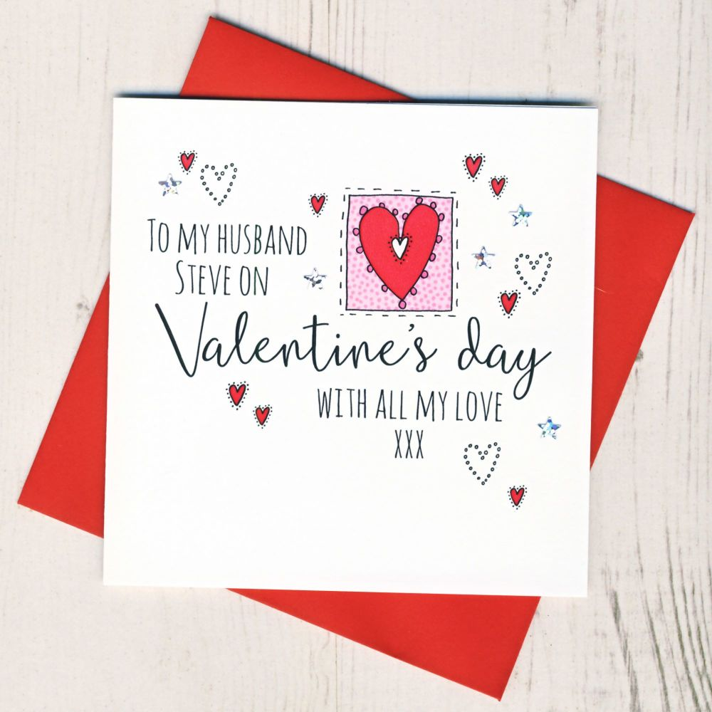 <!-- 001 -->Personalised Husband Valentines Card