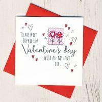 <!-- 003 -->Personalised Wife Valentines Card