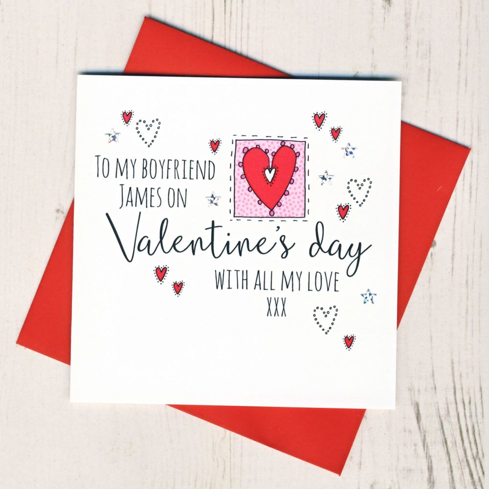 <!-- 007 -->Personalised Boyfriend Valentines Card
