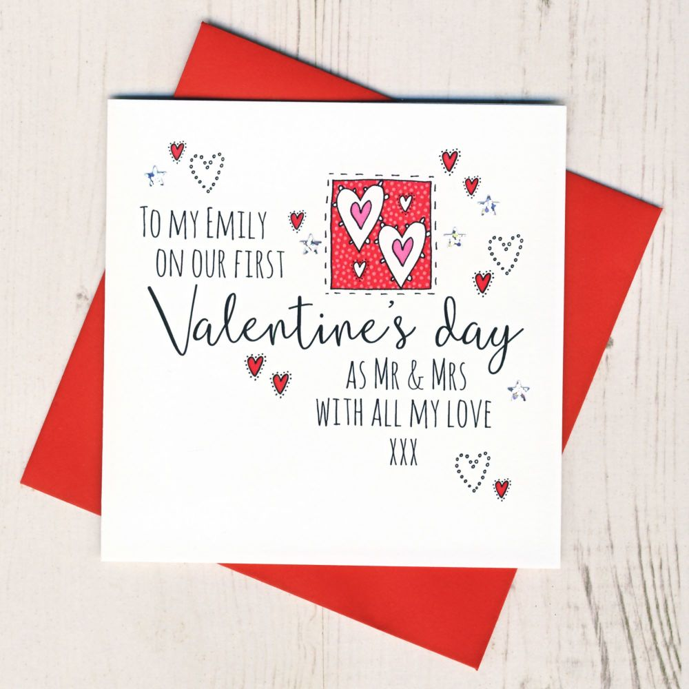 <!-- 001 -->Personalised First Valentines As A Married Couple